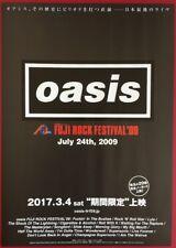 OASIS FUJI ROCK FESTIVAL 09 FILM JAPANESE CHIRASHI MINI POSTER FLYER STYLE B
