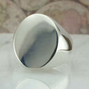 Solid 925 Sterling Silver Men Ring Signet Style Handmade Ottoman Size 6 - 13