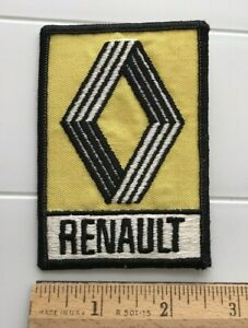 Renault Automobiles French Car Auto Yellow Black White Embroidered Patch Badge