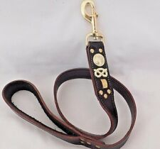 "DOG LEAD STAFFORDSHIRE-STAFFIE-STAFFY-STAFF- BULL TERRIER REAL LEATHER 1"" WIDE"
