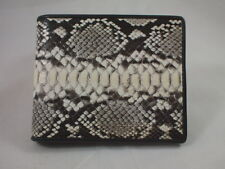 PREMIUM QUALITY PYTHON SNAKE SKIN LEATHER BELLY PART MEN WALLET HANDMADE