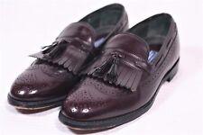 BOSTONIAN Leather Brown Oxblood BurgundyTassel WING TIP Loafer Shoes 9 D