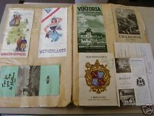 18 PAGE SCRAPBOOK FOR SOLDIER IN GERMANY IN 1951! LETTERS! BROCHURES! CARDS!