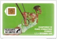42 F42 - TELECARTE 50 - 1988 - Championnat de France gymnastique OYONAX - série
