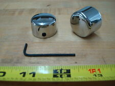 CHROME FRONT AXLE CAPS FOR XL FX & FL MODEL HARLEY DAVIDSON
