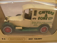 1978 MATCHBOX LESNEY MODELS OF YESTERYEAR 1:47 Y5 1927 TALBOT CHIVERS & SONS MIB