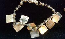 Vintage 1960s Childs Gold Religious Beaded 10 Commandment Charm Bracelet