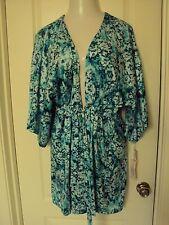 Linea Donatella Light light print Satin Robe size L/XL Long Sleeves
