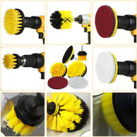 6pc/set Drill Brush Attachment Power Scrubber Cleaning Kit Combo Scrub Tub Clean