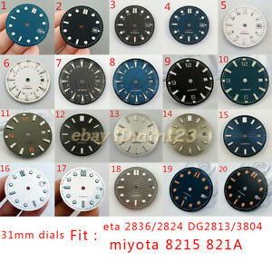 31mm sterile watch Dial For ETA 2836/2824 DG2813/3804 Miyota 8215 821A movement