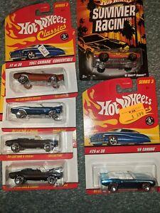 Hot Wheels classics 1967, 1969  CAMARO Convertibles series 2 &3  lot of 6.