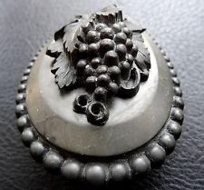 Antico Vittoriano Grape Vine FRUIT EBANITE cameo spilla di lutto C PIN-C669