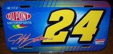JEFF GORDON #24 DUPONT #24 WINCRAFTPLASTIC LICENSE PLATE BRAND NEW