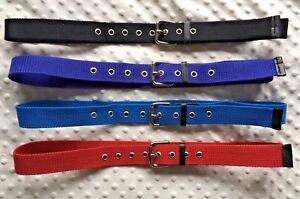 """Mens Nylon Belts 1.5"""" Ladies Belts Canvas Look Belts Funky Belt"""
