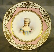 Antique Sevres First Empire Mme Du Barry Portrait Plate c1804