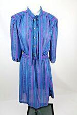 VTG 80s Sue Sherry Prairie Dress PaisleySecretary Belted Waist PLUS 24W Union
