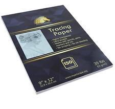"Tracing Paper Pad 39lb 9"" x 12"" 150 Transparent Sheets Artist Quality MyArtscape"
