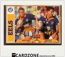 1994 Dynamic Rugby League Dynamic Duos Card Buettner/ Bartolo - Eels -RARE