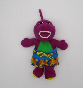Bathtime Barney 2001 Bath Toy Plush Blue Swimming Trunks Water Stuffed Animal