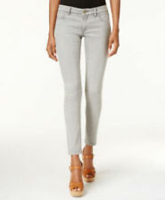 NWT Michael Kors Petite Cropped Silver Ski Wash Izzy Skinny Jeans Mid-Rise 6P