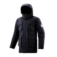 FUERZA Canadian Mens Down Wellon Winter Parka Hooded Long Coat Jacket Black L