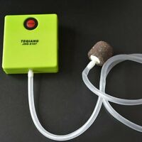 Green Aquarium Air Pump Ultra Silent Single Outlet Dry Cell Battery Fish Tank