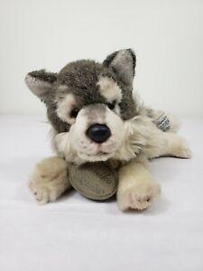 "Russ Berrie Yomiko Classics Timber Wolf 12"" Plush Stuffed Animal Toy Realistic"