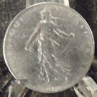 CIRCULATED 1960 1 FRANC FRENCH COIN(101618)1.....FREE DOMESTIC SHIPPING!!