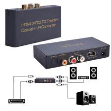 Optical Digital Coax Coaxial HDMI ARC To Toslink Coaxial L/R Converter Adapter