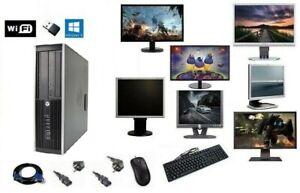 ORDINATEUR PC FIXE COMPLET HP 6005 PRO WIFI HDD SSD WINDOWS 10 4GO/8GO/16GO