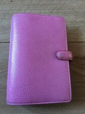 Filofax Finsbury Personal Light Pink Organiser Diary Used Real Leather Genuine