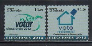 EL SALVADOR Elections 2012 MNH set
