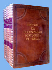 História da Colonização Portuguesa do Brasil - 1921 LEATHER BOUND BOOK 3 VOLUMES