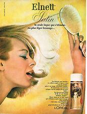 PUBLICITE ADVERTISING 035  1964  L'OREAL  laque ELNETT
