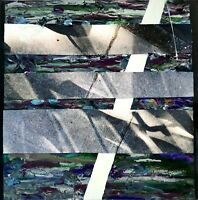 """""""Of Canyons"""" Small Abstract Collage Art Painting - Steven Tannenbaum Original"""
