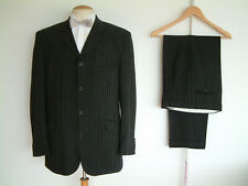 """EDWARDIAN STYLE SUIT..40"""" x 32""""..1900's..4 BUTTON..SACK..HIGH BUTTON..PEAKY.."""