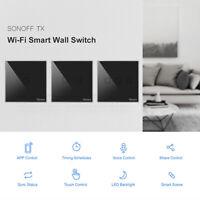 SONOFF T3 Wifi Interruptor de Pared RF Inteligente Toque Luz Para Alexa Google