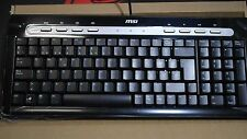 MSI USB Slim Spanish Keyboard Black color Spanish/ International Ver. STARTYPE