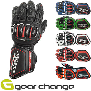 RST Tractech Evo Leather Motorbike Motorcycle Sports Gloves CE Approved