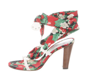 DOLCE & GABBANA Shoes, Sandals, RedGreen Black, size 39 EUR / 9 US (was $1,750)