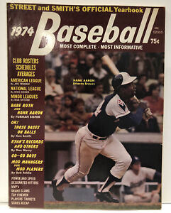 1974 Street and Smith's Official Baseball Yearbook Hank Aaron No Mailing Label