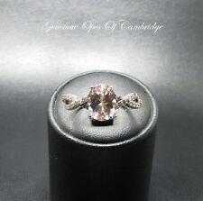 9K gold 9ct Gold Morganite and Diamond Ring Size N 1/2 2.43g Rose Gold