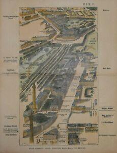 LONDON - ST. JAMES PARK, PALL MALL TO PIMLICO, HERBERT FRY, 1887.