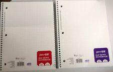 """2 - 4 X 4 QUAD Ruled Quad Notebook , 100 Sheets Each,10.5"""" X 8"""" New"""