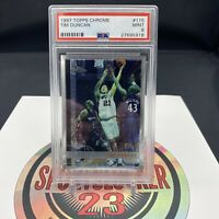 1997 98 TOPPS CHROME TIM DUNCAN #115 SPURS ROOKIE CARD RC PSA 9 MINT - IN HAND🏀