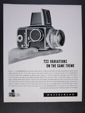 1963 Hasselblad 500C Camera with Zeiss Planar Lens vintage print Ad