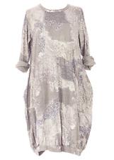 "New ITALIAN Quirky LAGENLOOK Cotton BALLOON Panel PAISLEY Pocket Tunic Dress 46"""