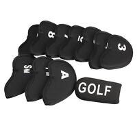 Schwarz Set von 11pcs Golf Club Putter-Eisen-Kopf-Abdeckungs-Fall-Schutz-Sl