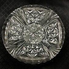 Vintage Large Glass Plate Serving Platter Mid Century Modern