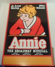 Annie the Broadway Musical Theater poster - 22x14